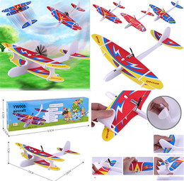 Model Airplanes Glider Australia - Airplanes Capacitor Electric Hand Launch Throwing Glider Aircraft Inertial Foam Toy Plane Model Outdoor Toy Educational Toys dc412