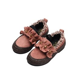 shoe fashion party for kids 2019 - Children Shoes Girls Shoes For Party And Wedding 2018 Autumn Fashion Slip On Kids For Girl Princess Flat Toddler Baby Sh