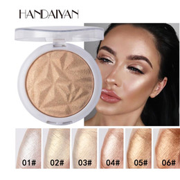 powder natural NZ - HANDAIYAN 6 Colors 3D Shimmer Highlighter Face Powder Palette Face Base Shine Makeup Natural Professional Powder Shimmer Makeup