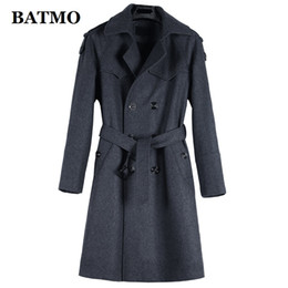 6xl trench coat men Australia - BATMO 2019 new arrival autumn&winter high quality wool casual trench coat men,men's long trench coat,plus-size S-6XL 1122