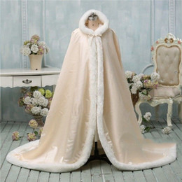 $enCountryForm.capitalKeyWord Australia - Stunning Floor Length Color Bridal Capes Wedding Cloaks Faux Fur Perfect For Winter Wedding Bridal Cloaks Cape Flower girl Cape