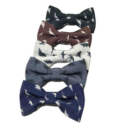 gray bowties Australia - Dinosaur Kid Kids Bow Tie Children Bowtie Polester Bowties Baby Elegant Gentleman Bow Ties Butterfly Children Party Bow Ties Pet Bowknot
