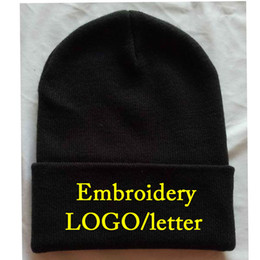 $enCountryForm.capitalKeyWord Australia - Free Logo Embroidery Normally Adult size skull caps Custom Knitted hats Winter Beanies Casual Warm Beanie Hip hot Knit Hats Stitch LOGO