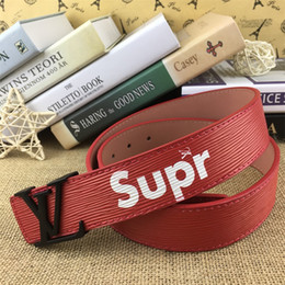 Brass Needles Australia - 2019Hot selling new Mens womens Red belt Genuine leather Business belts Pure color belt Brass button pattern buckle belt for gift top seller