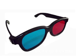 Anaglyph Dvd Australia - Free EMS 500 pairs 3D Glasses Universal White Frame Red Blue Anaglyph 3D Glasses For Movie Game DVD Video TV