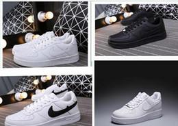 Venta al por mayor de KP14 de alta calidad de la manera Forzar CORCHO Hombres Mujeres One 1 zapatos casuales de alta escotado Todos Blanco Negro Marrón Color de las zapatillas de deporte casuales grandes del tamaño 36-44