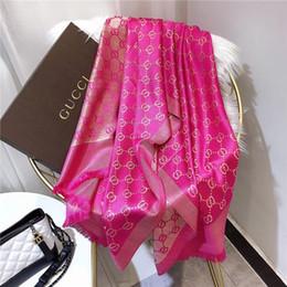 $enCountryForm.capitalKeyWord Australia - High quality 2020 Woman Silk Scarf Square Scarf Shawl Wraps 180*90cm Hot Sale Dot Plaid Satin Scarf Printed For Spring Summer Autumn Winter