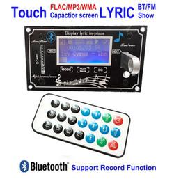 Ic Audio Australia - Freeshipping DC7V-12V Sound Spectrum MP3 Player FLAC WMA WAV decoder board FM Radio Nondestructive etooth Touch Senstive Audio Receiver