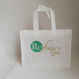 $enCountryForm.capitalKeyWord Australia - Wholesale 1000pcs lot 24x32x10cm Custom Reusable Grocery Women Foldable Non-woven Shopping Bags with Handle Cloth Bags Pouch