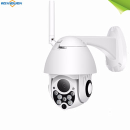 Mini Camera Zoom Outdoor Australia - outdoor wireless speed dome camera mini ip wifi 4X digital zoom PTZ camera HD 1080P colorful night vision real P2P CCTV security camera