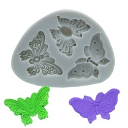 Butterfly shaped chocolates online shopping - Butterfly Shape Chocolate Moulds Silicone Biscuit Cake Mould Utility Kitchen Baking Tool Children s Clay Mold Toys Pieces DHL