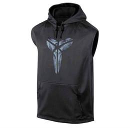 Undershirt Sleeveless NZ - Mens Joggers Hoodie Vest Running Vest Black Hooded Sleeveless Shirt Men Fitness Tanktop Cotton Mens Bodybuilding Undershirt