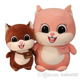 $enCountryForm.capitalKeyWord Australia - 20170620 Hot Sell Stuffed Doll Yellow Cute Squirrel Doll Farm Animals Plush Toys Girls Birthday Gift