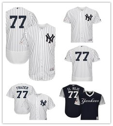 3645292e6 custom 2019 Men s Yankees 77 Clint Frazier El Rojo New York NavyGray  Players  Weekend Authentic women kids Jersey