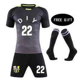 Men suit socks online shopping - 2019 Football Socks free Kids Football jerseys children jerseys Blank Soccer Training Suit Custom Men Child Futbol Uniforms set