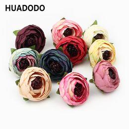 $enCountryForm.capitalKeyWord Canada - HUADODO 50pieces Silk Tea Buds Artificial Camellia Flower heads For home Wedding Decoration DIY Scrapbooking Fake Flowers C18112601