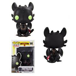 $enCountryForm.capitalKeyWord NZ - Funko POP How to Train Your Dragon 2 Toothless Toy PVC Figure Toy New Cartoon Movie Light Fury Black Doll Gift for Children