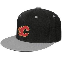 hard hats designs 2019 - Calgary Flames Mesh design red yellow Unisex Men Caps Women's Cap Adjustable Cotton Snapback Flatbrim Hard Hat Ball