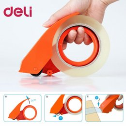 $enCountryForm.capitalKeyWord Australia - Deli 801 Tape Dispenser Manual Sealing Device Tape Cutter Baler Carton Sealer Width 48mm Packager Cutting Machine DropShipping