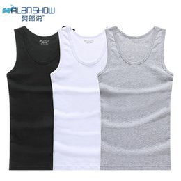 gym undershirts NZ - Cotton Sleeveless Undershirt Gym Tank Top Men Fitness Shirts Mens Bodybuilding Workout Vest Factory Outlet Y200106