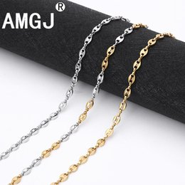 $enCountryForm.capitalKeyWord UK - AMGJ Stainless Steel Necklace Chain for Mens Womens Coffee Beans Link Chain Necklace 3~7mm Width Fashion Accessories
