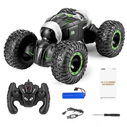 control cars toys NZ - Off-road vehicle four-wheel drive high-speed climbing car wireless remote control deformation car toy remote control twisting car