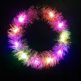 $enCountryForm.capitalKeyWord Australia - Tassel LED Flashing Glow Headband Women Kids Children Light Up Hairbands Christmas Glow Party Supplies ZC0716