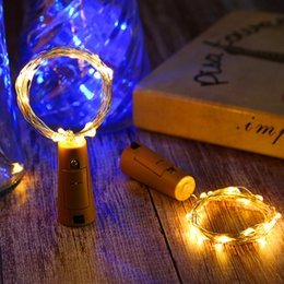 bottle lights UK - 1M 10LED 2M 20LED Lamp Cork Shaped Bottle Stopper Light Glass Wine LED Copper Wire String Light For Xmas Party Wedding Halloween