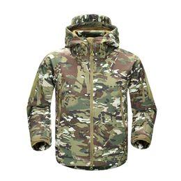 Soft Skin tactical jacket online shopping - Men V5 Tactical Jacket Vogue Lurker Shark Skin Soft Shell Waterproof Windproof Windbreaker Winter Jacket Coats XS XL