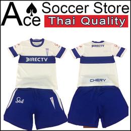 f75aa855249 19 20 new Universidad Catolica men set home SHIRT CUSTOMIZE 2019 2020 adult kit  Universidad de Chile soccer jersey Red Blue white shorts