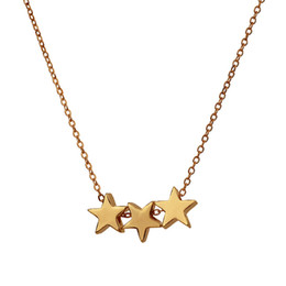 $enCountryForm.capitalKeyWord Australia - Dogeared Hot Sale Three Wishes Triple Floating Slide Star Pendant Necklace Clavicle Chains Fashion Statement Necklace Women With Card YD0217