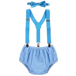 $enCountryForm.capitalKeyWord UK - Baby Boys Diaper Cover Pants +Suspenders Y Back Braces + Bow tie 1st Birthday Cake Smash Outfits Bloomer Suspenders Photo