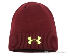 Cashmere Beanies UK - New Hot ads Brand hat winter outdoor double-sided jacquard embroidered hat for both men and women to protect the cold and warm