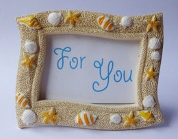 $enCountryForm.capitalKeyWord Australia - Wholesale Beach Theme Lovely Sea Shell Starfish Resin Photo Frame Wedding Favors Gifts for Guest W8749