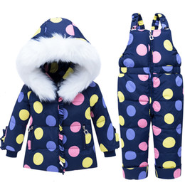 $enCountryForm.capitalKeyWord Australia - Girls thick ski suit winter kids warm hoodies+bib pants 2pcs doorout clothes set for baby children outfit down parkas casual