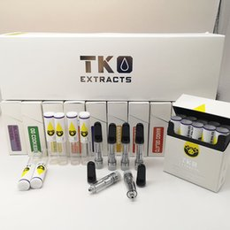 $enCountryForm.capitalKeyWord Australia - TKO Extracts Cartridge Ceramic Vape Carts 510 Thread Vape Pen Oil Atomizer Glass Tank 0.8ML Vaporizer Pen Empty Cartridge Packaging Flat Tip