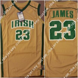 05db4679da73 Cheap custom Lebron James Irish High School Gold Basketball Jersey Stitched  Customize any number name MEN WOMEN YOUTH XS-5XL