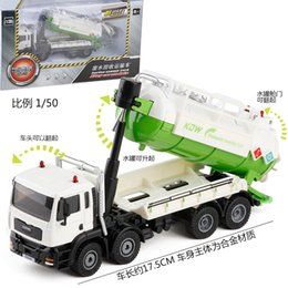 toy models cars trucks 2019 - 1:50 Die Cast Model Cars Engineering Vehicles automobile Alloy Suction Sewage Transport Truck Van gld3 Toys for Children