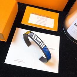 $enCountryForm.capitalKeyWord Australia - Designer Fashion Accessories Carved enamel Bracelet Floral Pattern 2019 Luxury Accessories DAMIER BLACK Bracelet Black Blue