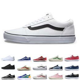 f13a12c2f0 2019New Wholesale Vans old skool sk8 fear of god hi men women canvas  sneakers black white YACHT CLUB MARSHMALLOW fashion skate shoes