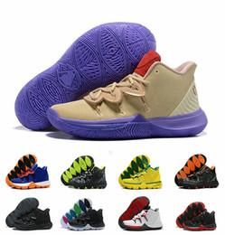 7414eba99052 2019 New kyrie V duke shoes Irving 5 Ikhet DS Beige Purple Basketball shoes  Mens Fashion Designer Men Chaussures size US 7-12