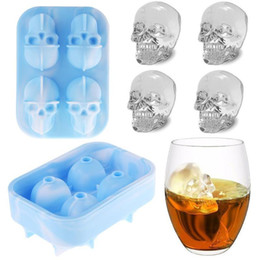 $enCountryForm.capitalKeyWord Australia - Silicone 3d Skull Ice Mold Tray Chocolate Cake Candy Ice Mould For Whiskey Wine Cool Bar Party Ice Cream Maker