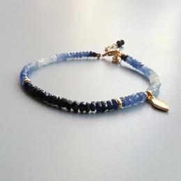 Delicate silver bracelets for women online shopping - Lii Ji Genuine Multi Blue Sapphire Bracelet Sterling Silver K Gold Plated Leaf Delicate Bracelet For Women