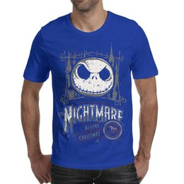 aa5ddb6e23604 Christmas T Shirts Men Australia - Men design printing nightmare before  christmas blue t shirt design