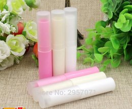 Discount professional lipstick balm - Professional Makeup Cosmetic DIY Chapstick Lip gloss Lipstick Balm Tube with Transparent Caps Empty Container Packaging