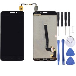 alcatel idol lcd UK - LCD Screen and Digitizer Full Assembly for Alcatel One Touch Idol X+   6043   6043D