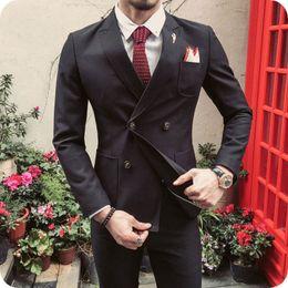 New latest desigN coat paNt online shopping - 2019 NEW Fashion Piece Men Suit Slim Fit Man Blazer Jacket Peaked Lapel Latest Coat Pants Designs Costume Homme Formal Terno Masculino