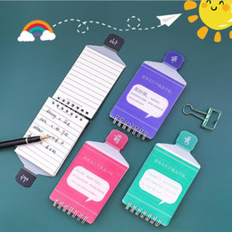 stationery mini notepads NZ - Creative Bottle Shape Notepads Mini Coil Notebooks Portable Tearable Students Word Book Card Stationery Gift School Office Supplies
