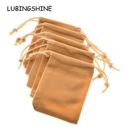 pc jewellery UK - LUBINGSHINE 5 pcs lot Velvet Black Red Jewelry Gift Bags Brace Strap Drawstring Pouches Wholesale Jewellery Packaging 7*9 cm