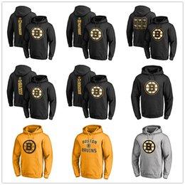 venda por atacado Boston Bruins Moletom Com Capuz Patrice Bergeron David Backes David Pastrnak Brad Marchand Hóquei Mens Designer Hoodies Impresso Logos 2019 Playoffs